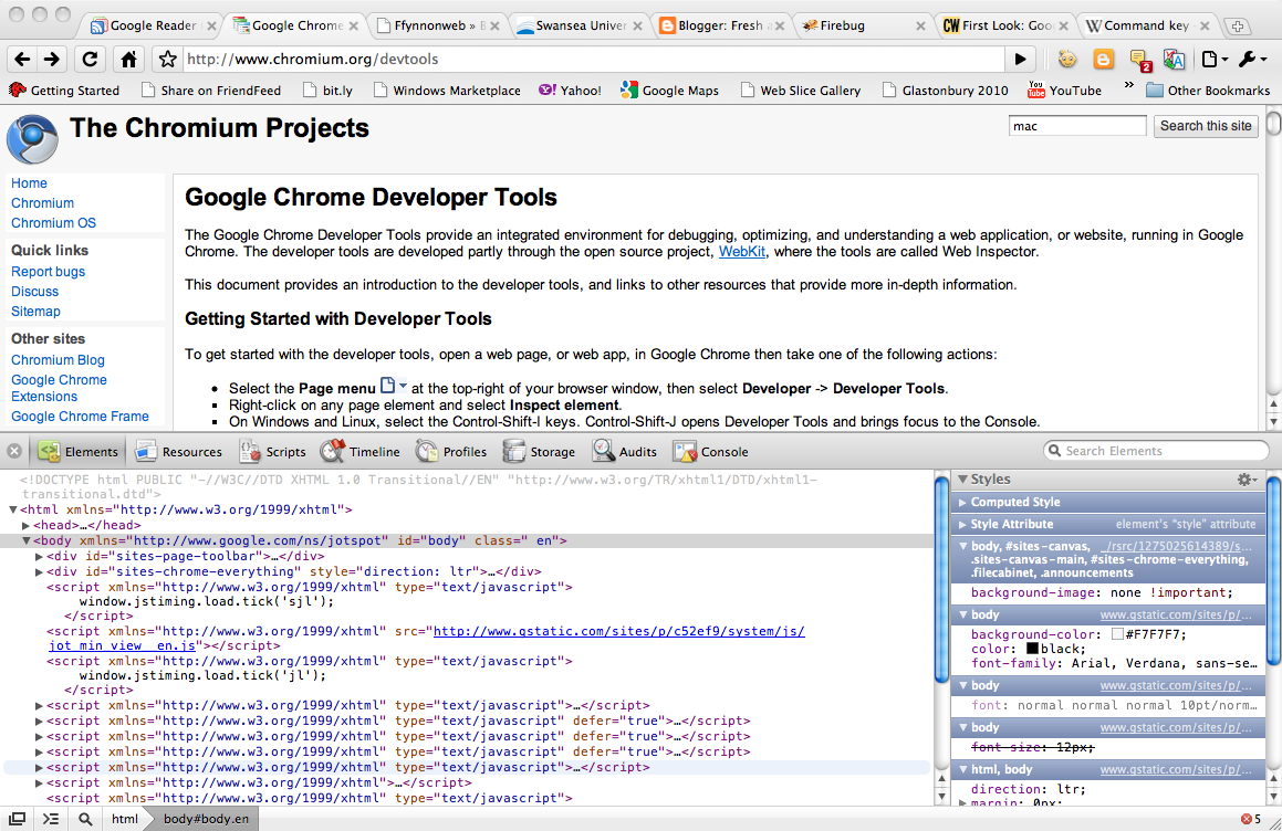 Google Chrome Web Development Tools – Fresh and Crispy