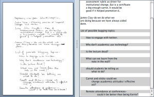 Apart from one or two errors, the translation of my scrawl on the left to the text on the right is pretty good!